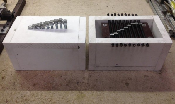 Two static nut and bolt prototypes used for testing